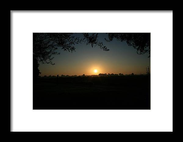 Sunset Framed Print featuring the photograph Sunset On The Farm by Joshua Sunday