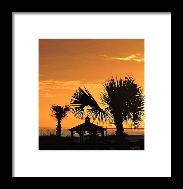 Gulfport Framed Print featuring the photograph Sunset On The Gulf Coast by Vicki Tinnon
