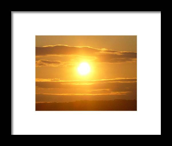 Sunset Framed Print featuring the photograph Sunset On The Horizon 3 by Sharon Stacey
