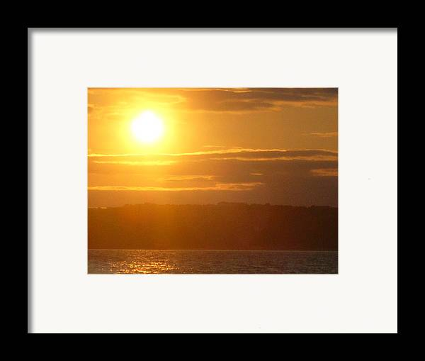 Sunset Framed Print featuring the photograph Sunset On The Horizon 4 by Sharon Stacey