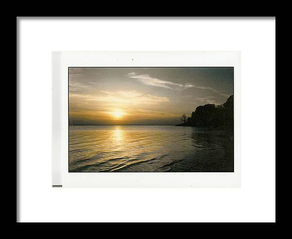 Beautiful Framed Print featuring the photograph Sunset On The James by Anne-Elizabeth Whiteway
