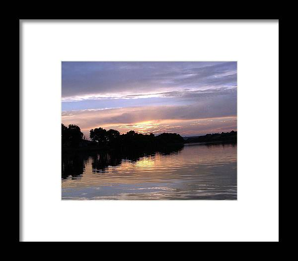 Snake River Framed Print featuring the photograph Sunset On The Snake by Dawn Blair