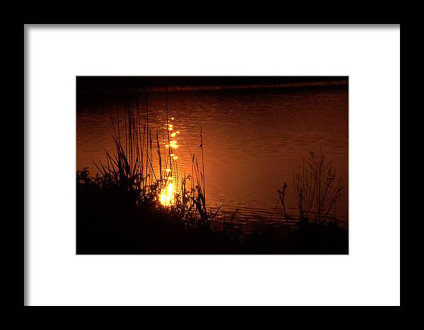 Sunset Framed Print featuring the photograph Sunset On The Water by Barry Shaffer