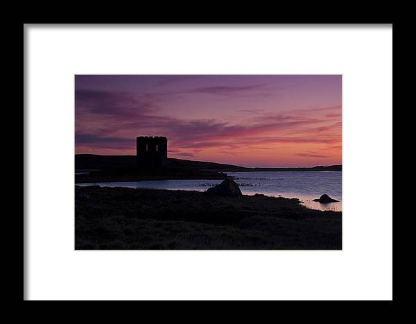 Lake Framed Print featuring the photograph Sunset On Uist by Gabor Pozsgai