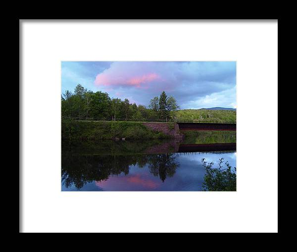 Sunset Framed Print featuring the photograph Sunset Over Amoonoosuc River by Dorothea Abbott