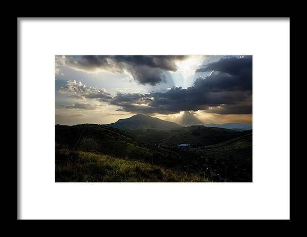 Indian Springs Framed Print featuring the photograph Sunset over Indian Springs by Roy Nierdieck