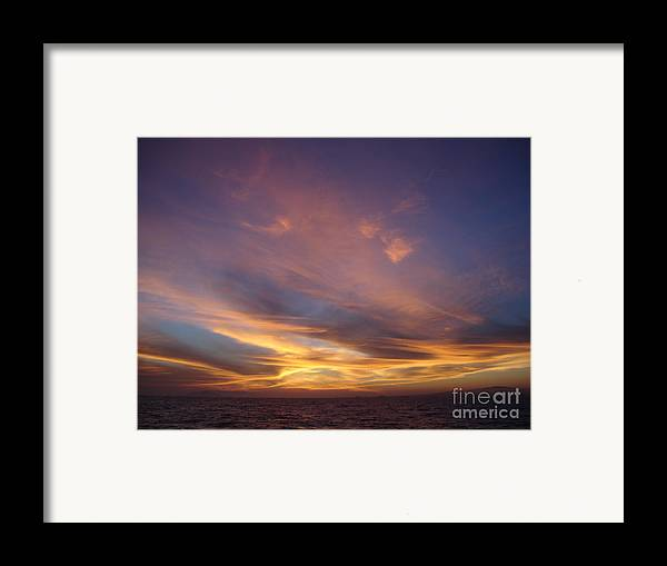 Sunset Framed Print featuring the photograph Sunset Over Island by Chad Natti