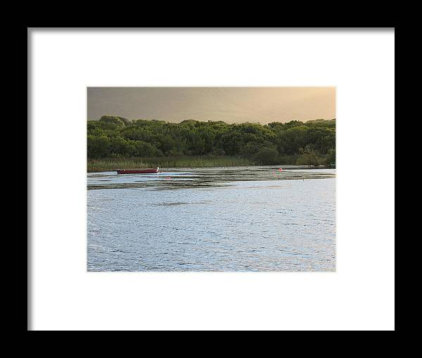 Boat Framed Print featuring the photograph Sunset Over Killarney by Kelly Mezzapelle