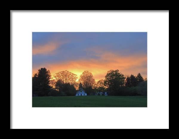 North Common Meadow Framed Print featuring the photograph Sunset Over North Common Meadow by John Burk