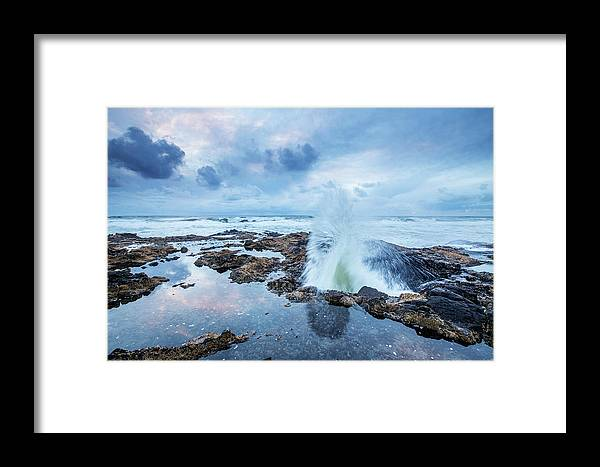 Coast Framed Print featuring the photograph Sunset Over Thor's Well by Scott Law