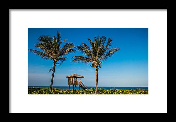Florida Framed Print featuring the photograph Sunset Palms Delray Beach Florida by Lawrence S Richardson Jr
