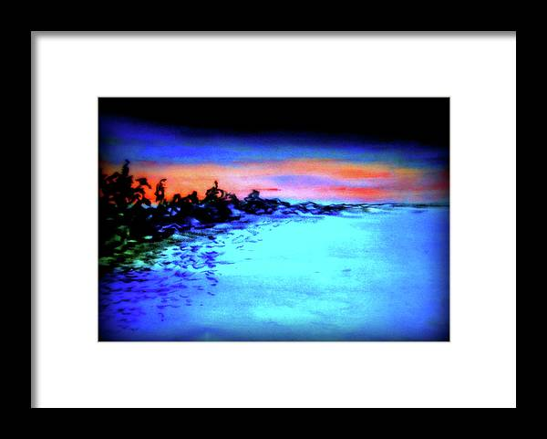 Depth Framed Print featuring the pastel Sunset by Pam Ellis