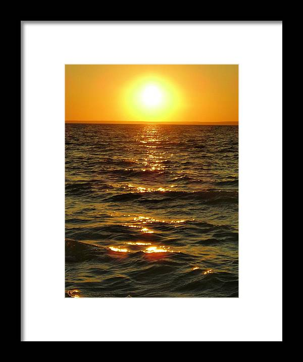 Sunset Framed Print featuring the photograph Sunset by Peter Mowry