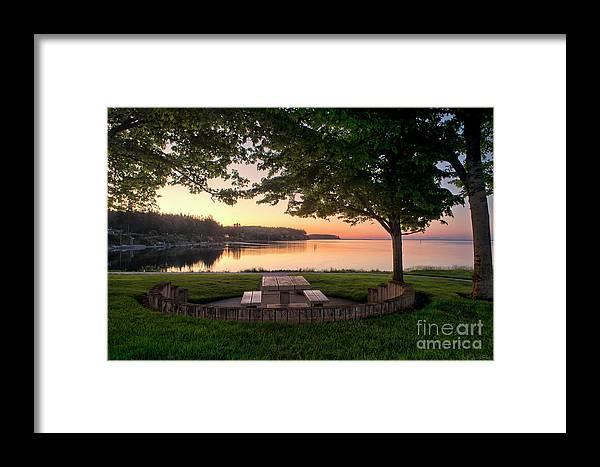Path Framed Print featuring the photograph Sunset Picnic by Karen Goodwin