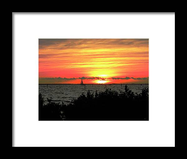 Sunset Framed Print featuring the photograph Sunset Punta Gorda Fl by Francesco Roncone