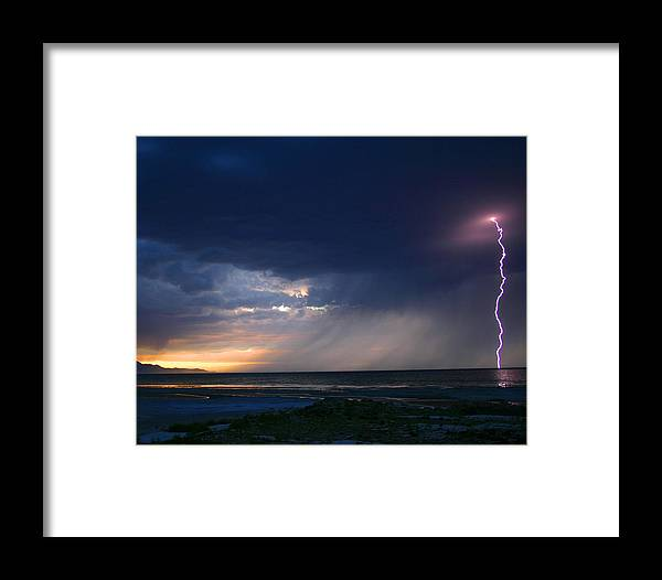 Weather Framed Print featuring the photograph Sunset Surprise by Gene Praag