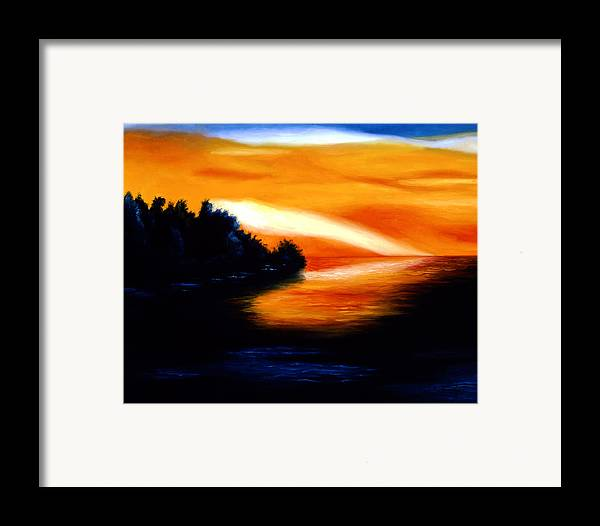 Pop Art Framed Print featuring the painting Sunset by Tak Salmastyan