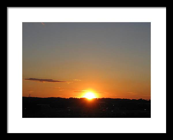 Sun Framed Print featuring the photograph Sunset by Thomas Kelly