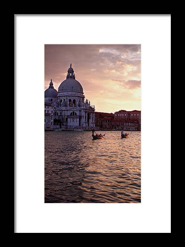 Water Framed Print featuring the photograph Sunset Venice Italy by Xavier Cardell