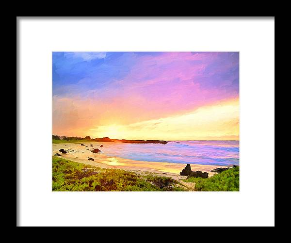 Sunset Framed Print featuring the painting Sunset Walk by Dominic Piperata