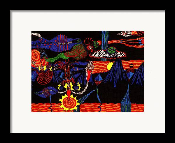 Abstract Framed Print featuring the print Sunset by William Watson