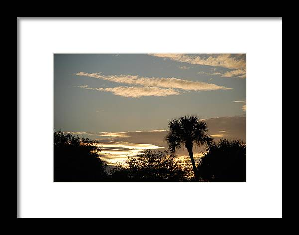 Clouds Palm Trees Framed Print featuring the photograph Sunsets In The West by Rob Hans