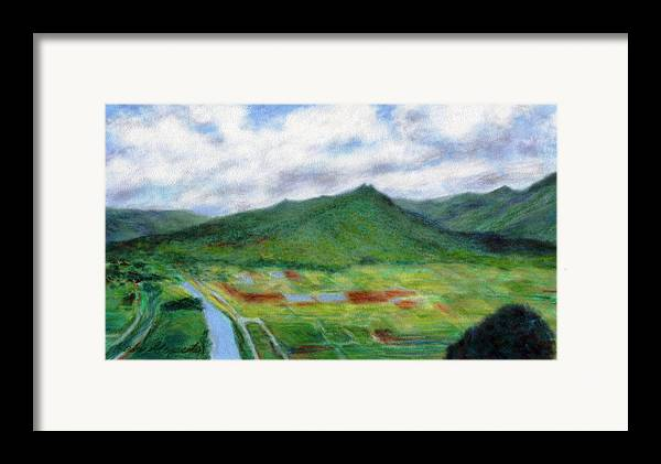 Rainbow Colors Pastel Framed Print featuring the painting Sunspot by Kenneth Grzesik