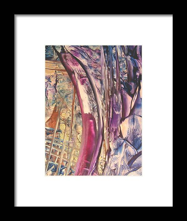 Abstract Framed Print featuring the painting Sunward by John Vandebrooke