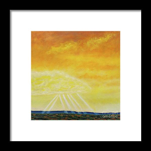 Landscape Framed Print featuring the painting Super Seven by Brian Commerford