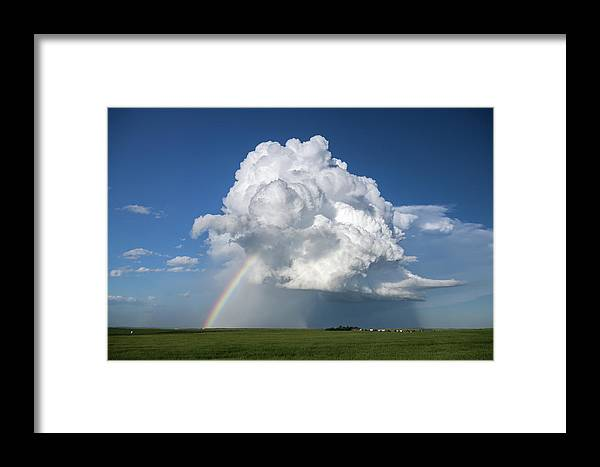 Rainbow Framed Print featuring the photograph Supercell Rainbow by James Hammett