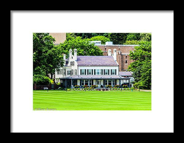 This Is A Photo Of The Superintendent's House At The West Point Military Academy Were Douglas Macarthur Once Slept Framed Print featuring the photograph Superintendents House by William Rogers