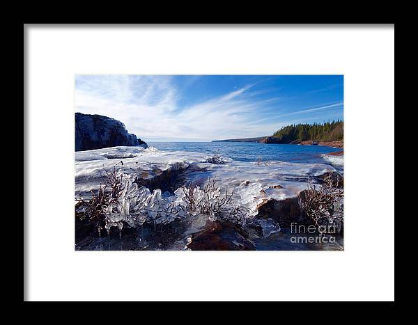 Lake Superior Framed Print featuring the photograph Superior Blues by Sandra Updyke