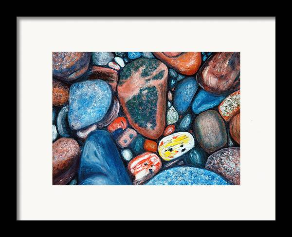 Rocks Framed Print featuring the painting Superior View by Patricia Ortman