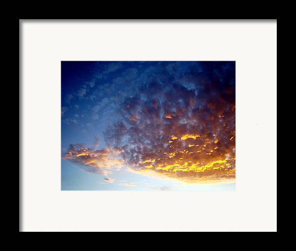 Clouds Framed Print featuring the photograph Supernatural Cloud Three by Ana Villaronga