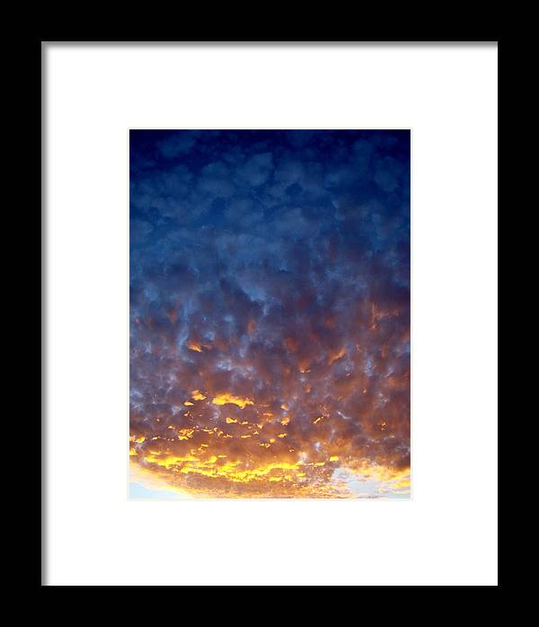 Clouds Framed Print featuring the photograph Supernatural Cloud Two by Ana Villaronga