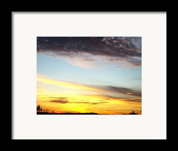 Sunset Framed Print featuring the photograph Supernatural Sunset One by Ana Villaronga