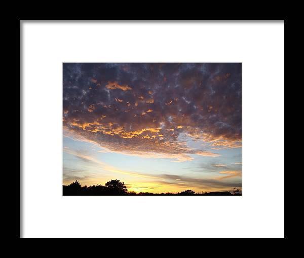 Sky Framed Print featuring the photograph Supernatural Sunset Two by Ana Villaronga