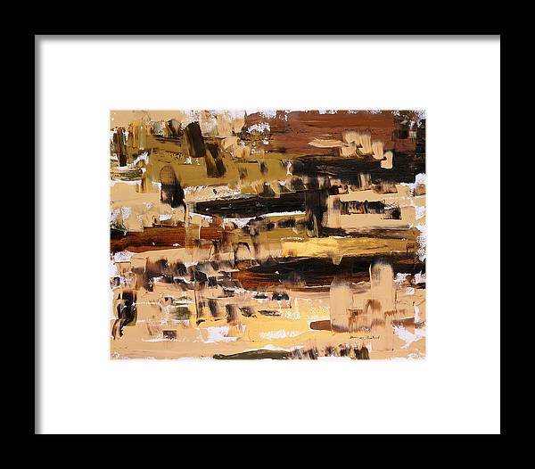 Abstract Framed Print featuring the painting Superpositions 2 by Dominique Boutaud