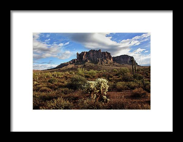 Desert Framed Print featuring the photograph Superstition Mountains by John Nelson