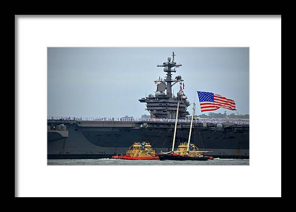 Uss Carl Vinson Framed Print featuring the photograph Superstructure by See My Photos
