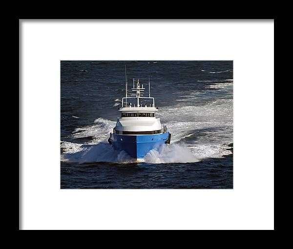 Supply Boat Framed Print featuring the photograph Supply Boat by Bill Perry