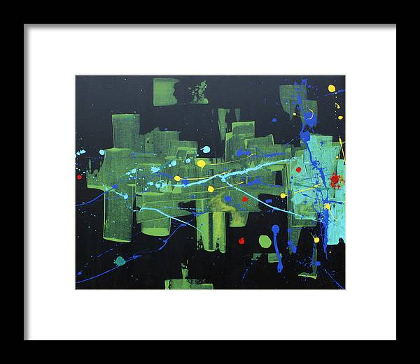 Contemporary Abstract Framed Print featuring the painting Supreme Dominance by John Wesley