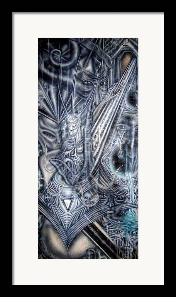 Contemporary Framed Print featuring the painting Supreme Technology Of Thought ... All Is Born From Nothing by Leigh Odom