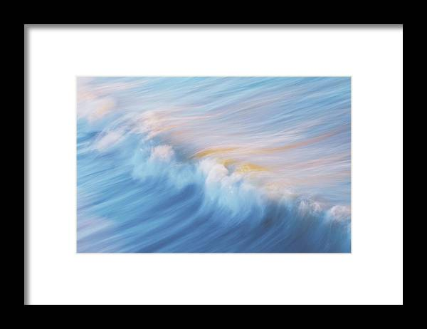 Wave Front Framed Print featuring the photograph Surf Break at Pismo Beach, California by Zayne Diamond Photographic