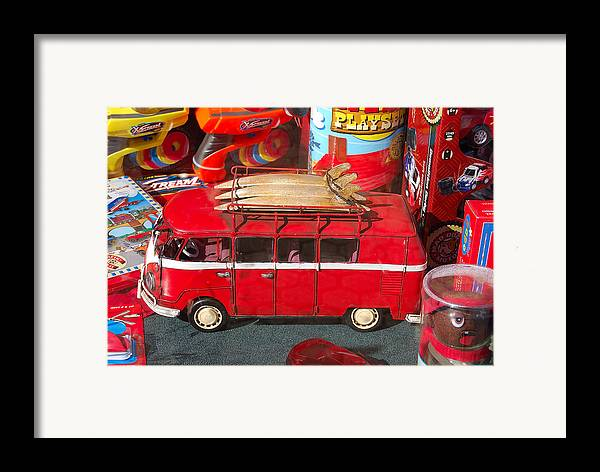 Photography Framed Print featuring the photograph Surf Bus by Heather S Huston