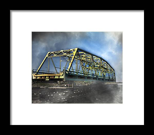 Topsail Framed Print featuring the photograph Surf City Nc Swing Bridge by Betsy Knapp
