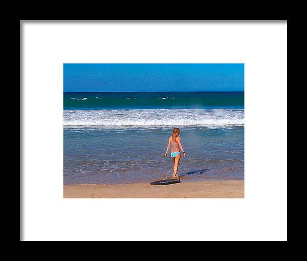 Ocean Framed Print featuring the photograph Surf Up by Athala Carole Bruckner