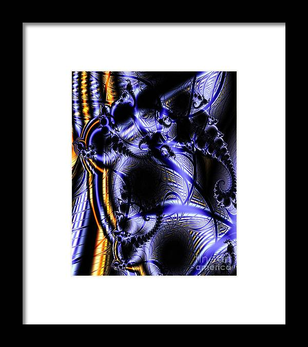Surface Pattern Framed Print featuring the digital art Surface Pattern by Ron Bissett