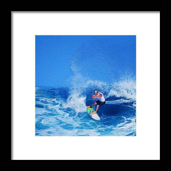 Professional-surfer-surfers Framed Print featuring the photograph Surfer Charles Martin by Scott Cameron