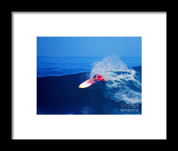 Professional-surfer-surfers Framed Print featuring the photograph Surfer Glenn Hall - Nbr 1 by Scott Cameron
